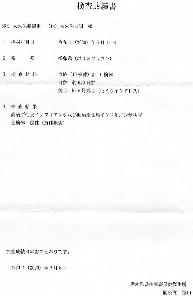 栃木県による高病原性鳥インフルエンザ検査